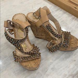 Iridescent Wedge Sandal